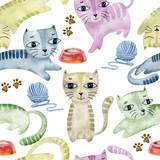 watercolor seamless pattern. - 255804731