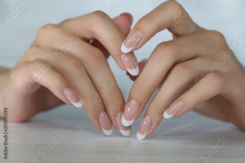 Aluminium Prints Manicure Beautiful Female Hands. Beautiful hand with perfect nails