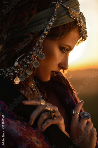 Photo sur Aluminium Gypsy boho fashion style