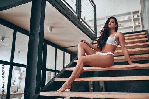 Fotografie, Obraz  Sexy woman at home
