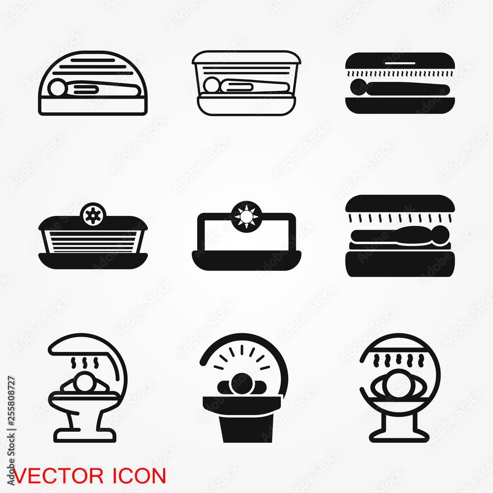 Fototapety, obrazy: Solarium icon vector sign symbol for design