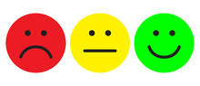 Red, Yellow And Green Smileys