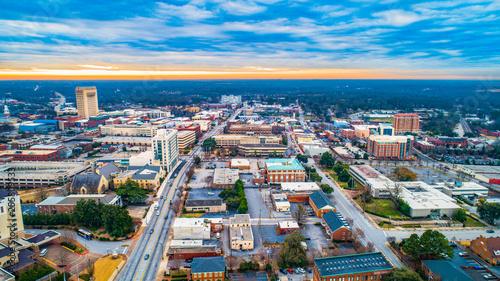 Fényképezés  Aerial Panorama of Downtown Spartanburg, South Carolina, USA