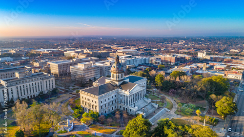 Fototapeta Downtown Columbia South Carolina Skyline SC Aerial obraz