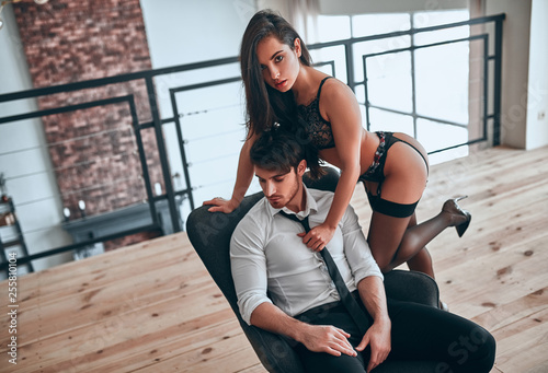 Fotografie, Obraz  Passionate couple at home