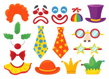 Clown Props Set, Funny Colorfu...