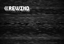 Rewind Glitch Screen. Retro Television Glitched Vhs Defect, Glitches Rewinds Noise Graphic Vector Background Illustration