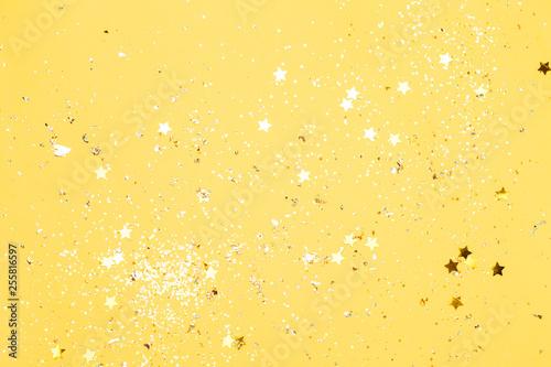 Fotografie, Obraz  Colorful yellow confetti background