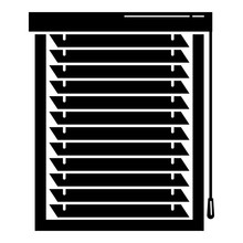 Metal Louvers Icon. Simple Illustration Of Metal Louvers Vector Icon For Web Design Isolated On White Background