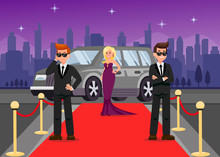Bodyguards And Female Celebrity Cartoon Characters