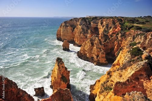 Fotografering  Amazing seascape with cliffs and coastline