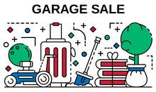 Garage Sale Banner. Outline Il...
