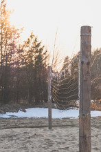 Volleyball Net In Spring Sunset