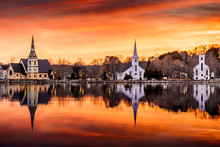 Three Churches Of Mahone Bay Nova Scotia