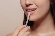 Applying Transparent Lip Gloss