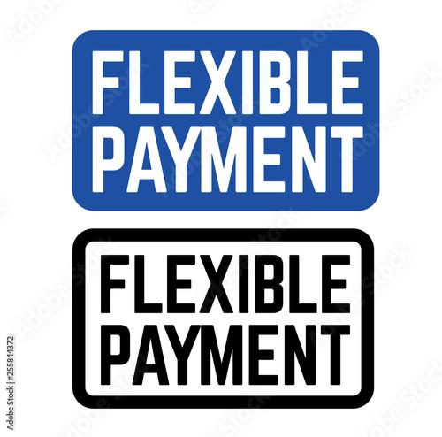 Fotografie, Obraz  flexible payment stamp on white