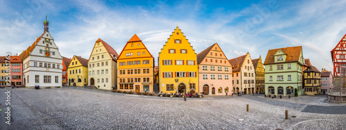 Valokuvatapetti Medieval town of Rothenburg ob der Tauber in summer, Bavaria, Germany