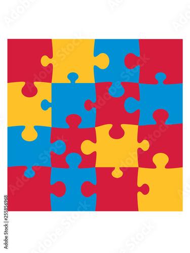 Fotografía  fläche puzzle viereck bunt 4 ecken ecke eckteil rand teil puzzlespiel puzzleteil