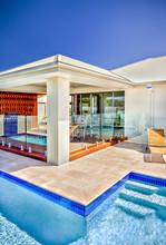 Modern Swimming Pool Filled Wi...