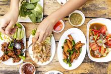 Local Isan Food Set Or Thai No...