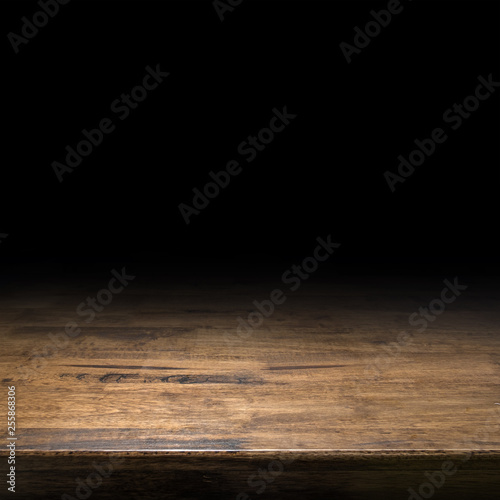 Türaufkleber Holz Brown wood table perspective background for display or montage of product,Mock up template for your design.