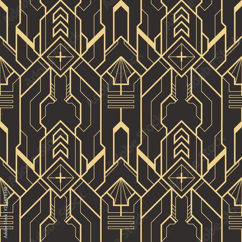 Fototapeten Künstlich Abstract art deco seamless modern tiles pattern