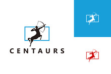 Centaurs Logo Template Design Vector, Emblem, Design Concept, Creative Symbol, Icon
