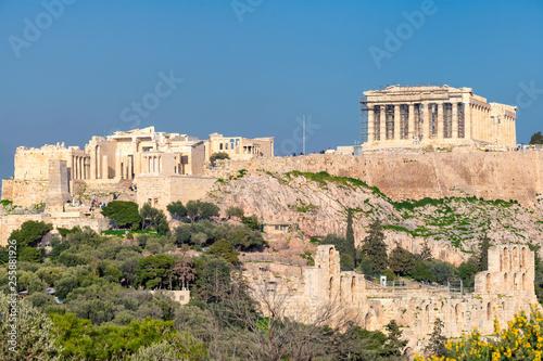 Poster Athens The Acropolis of Athens, with the Parthenon Temple, Athens, Greece.