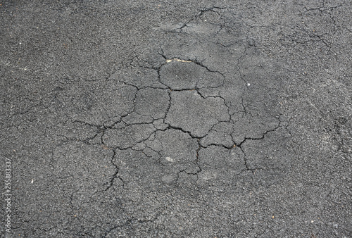 Fototapeta Cracked asphalt background. obraz