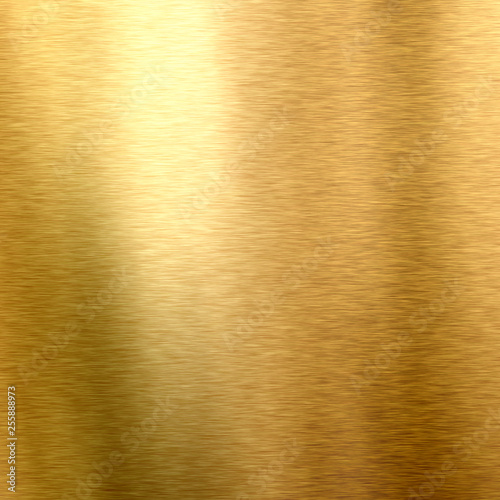Photo sur Toile Les Textures Gold background. Shiny polished leaf metal gold plate, brushed texture