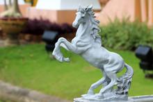 Horse Statues Decorations In Public Park