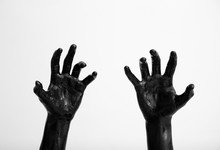Painted Hands On Light Background