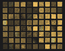Set Of Rough Gold Grunge Textu...