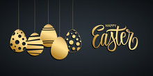 Happy Easter Holiday Banner Wi...