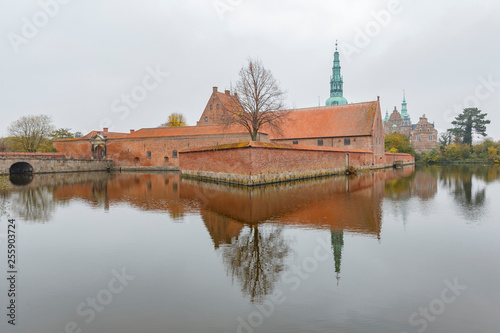 Afternoon exterior view of the famous Frederiksborg Castle Canvas Print