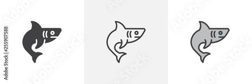Fotografia Shark, fish icon