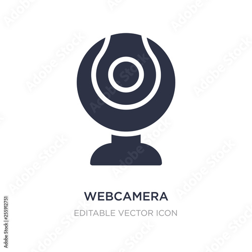 webcamera icon on white background Wallpaper Mural