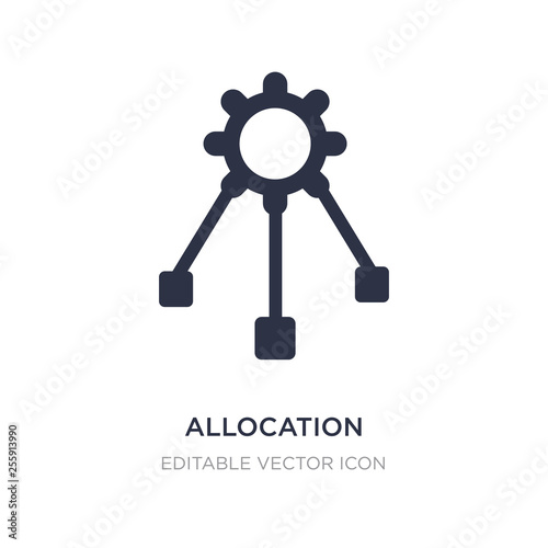 Photo allocation icon on white background