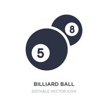 Billiard Ball Icon On White Ba...
