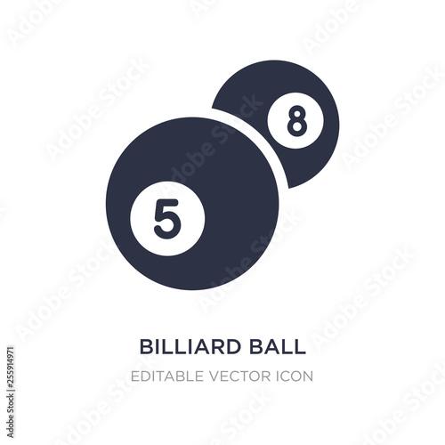 Fototapeta billiard ball icon on white background