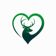 Deer Animal Lovers Logo