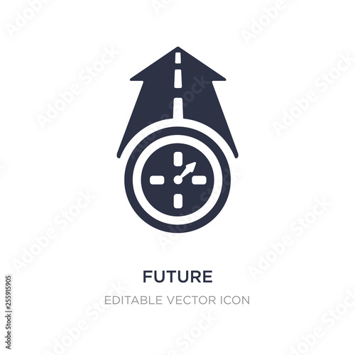 Obraz future icon on white background. Simple element illustration from Halloween concept. - fototapety do salonu