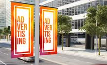 Lamp Post Advertising Banner