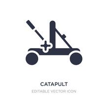 Catapult Icon On White Backgro...
