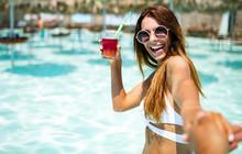 Summer Vacation Young Woman Ha...
