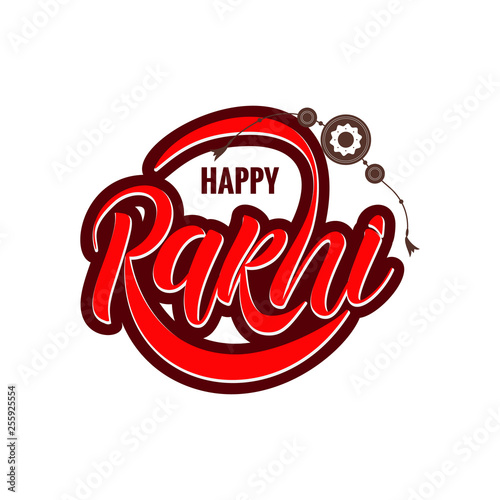 Foto  Rakshi typography lettering poster
