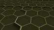 Abstract honeycomb texture. Art hexagons background