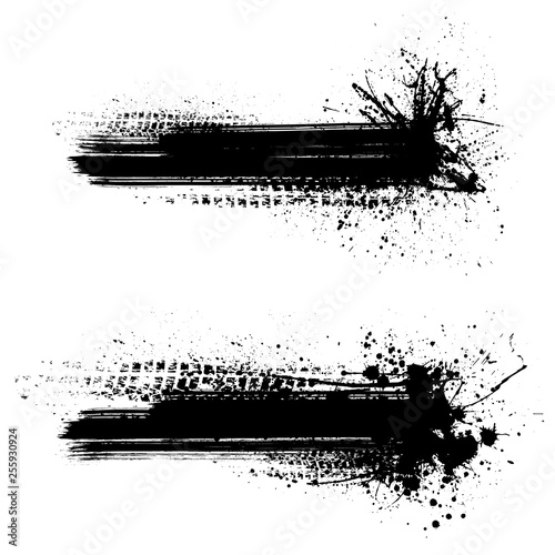 Black tire track background Wall mural