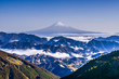 canvas print picture - 冬の富士山、日本の絶景、霊峰富士、清水吉原と雲海