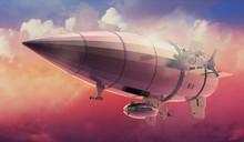 Vintage Airship Zeppelin. In T...